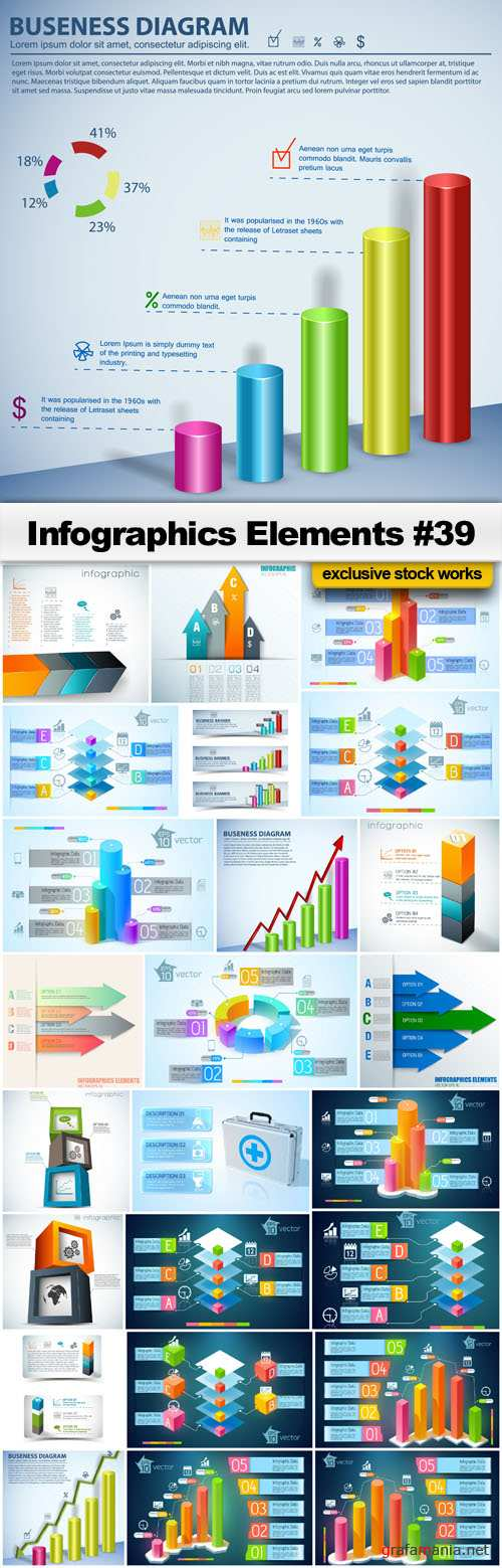 Infographics Elements #39 - 25 EPS