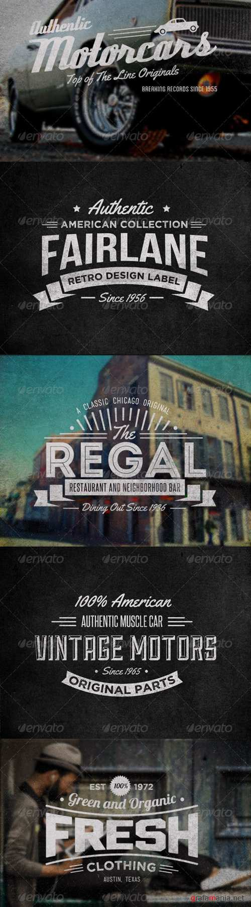 GraphicRiver - Vintage Labels and Logos Collection 1 - 5383666