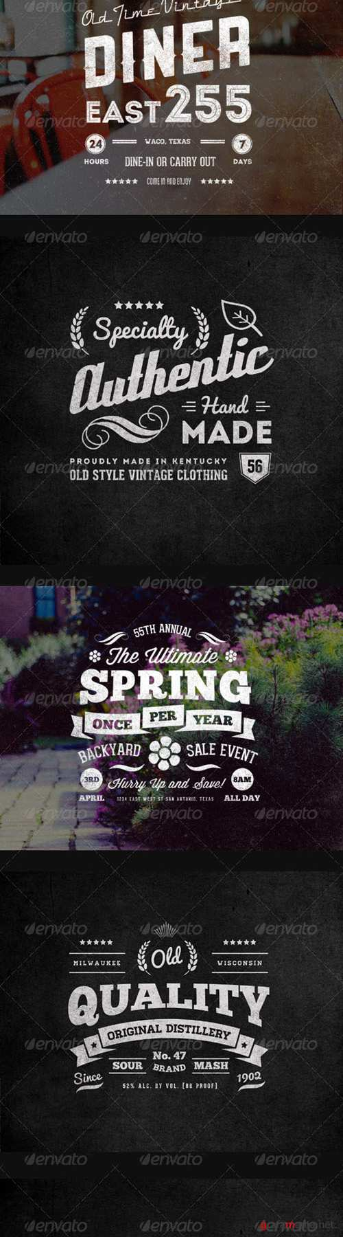 GraphicRiver - Vintage Labels and Logos Collection 3 - 7200643