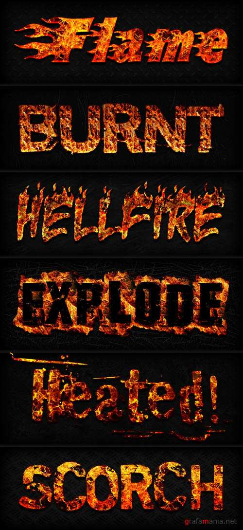 Fire Layer Photoshop Styles