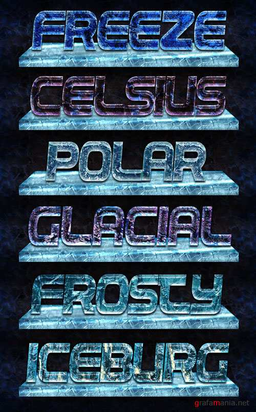 Ice Layer Photoshop Text Styles