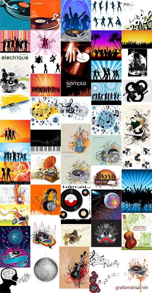Music and Audio Dance Vector Set