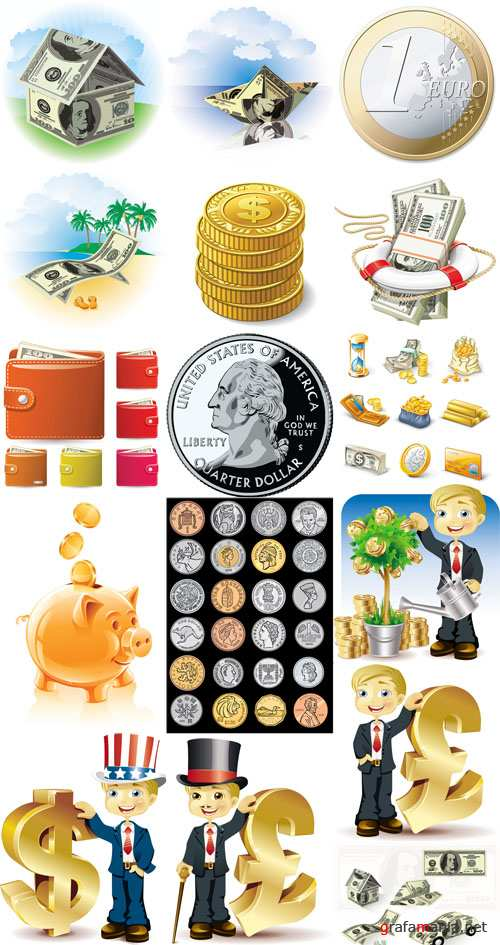 Money Vector Set