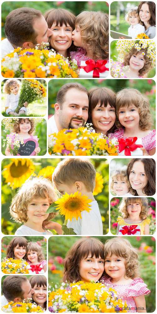 Happy young family, part 15 - Stock Photo