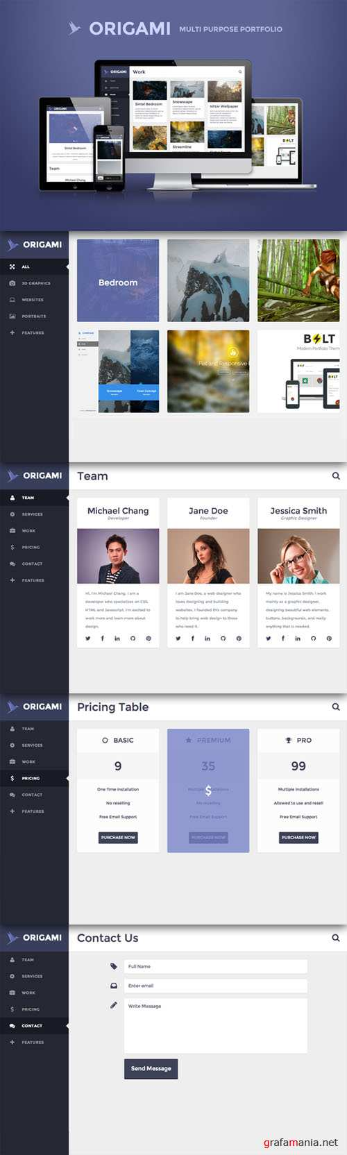 CreativeMarket - Origami - multipurpose template