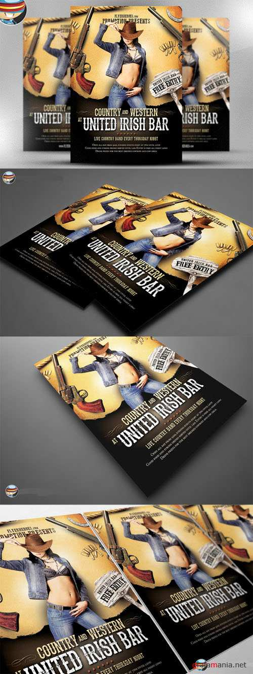 CreativeMarket - Country and Western Flyer Template