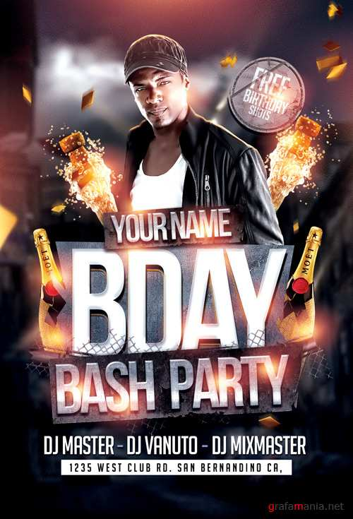 Bday Bash 2 Flyer Template