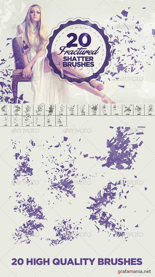 GraphicRiver 20 Fractured Shatter Brushes