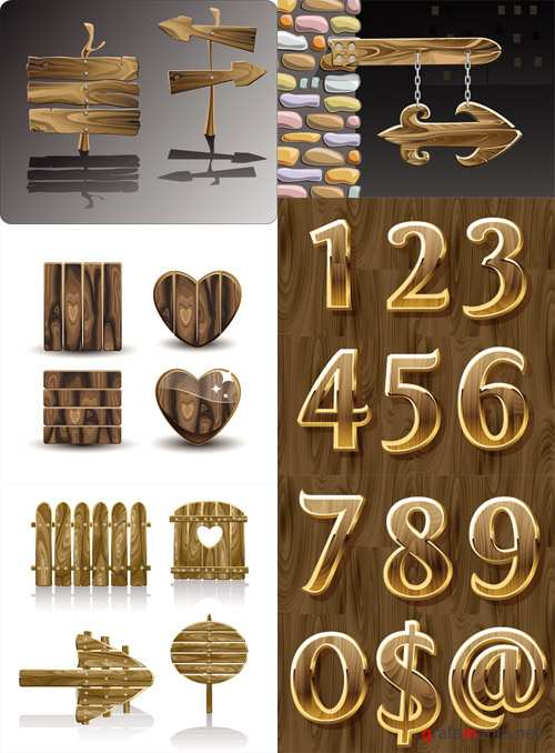 Wooden Sings and Numeric