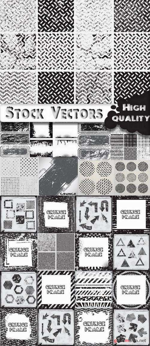 Grunge  Frame Backgrounds  and Elements - 25 Eps