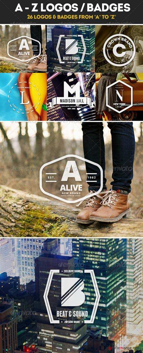 GraphicRiver 26 Logos from A to Z / Badges / Insignias