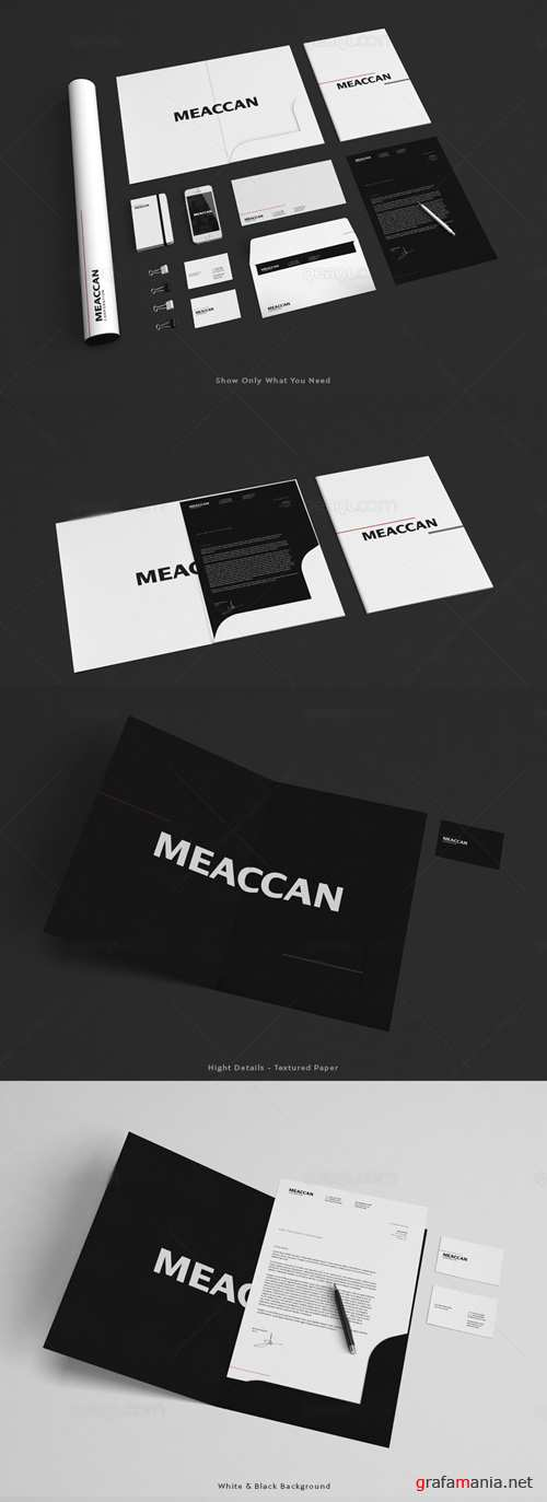 Stationery and Letter Mockup Templates PSD