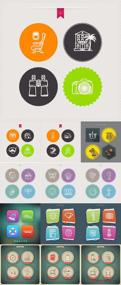 Stock: Collection of icons vector