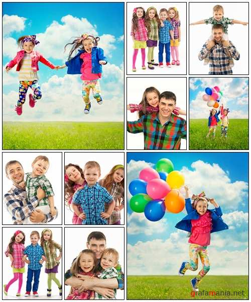 Happy children, part 10 - Stock Photo