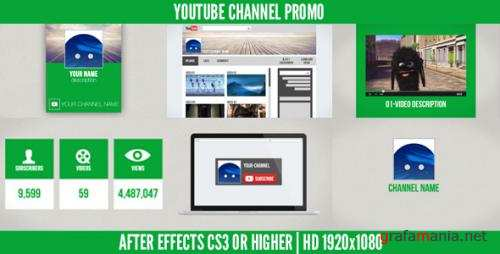 Youtube Channel Promo - After Effects Project (Videohive)