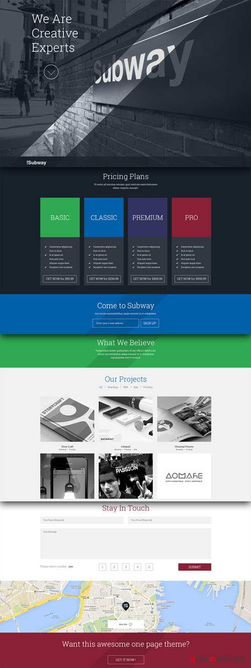 CreativeMarket - SUBWAY - Creative HTML5 Template