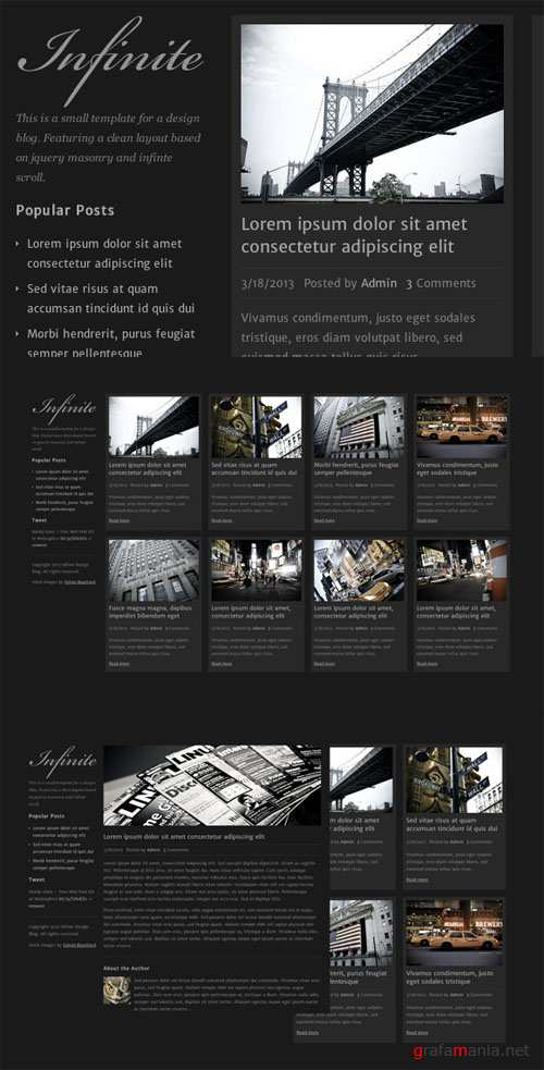 WeGraphics - Infinite - A Design Blog Template HTML/CSS