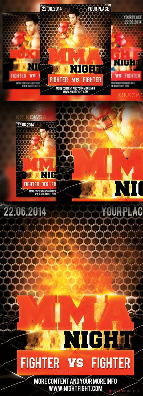 CreativeMarket - MMA Night Flyer