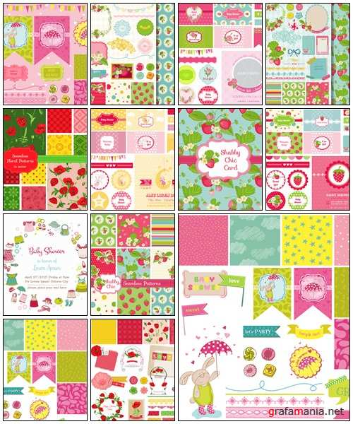 Scrapbook Design Elements, part 10 - vector stock