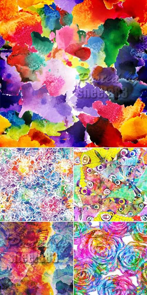Abstract Watercolor Backgrounds Vector 2