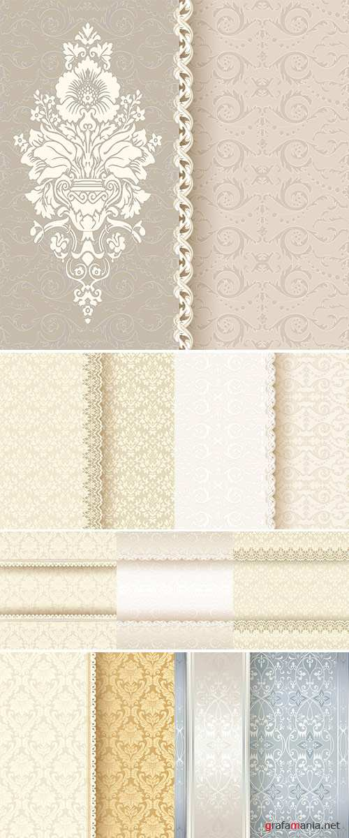 Stock: Vintage background, invitation cards in an vintage-style