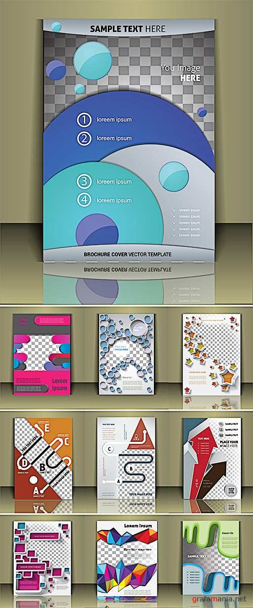 Stock: Vector brochure cover template