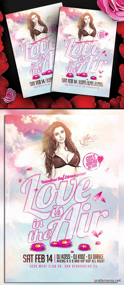 Love is in the Air Valentines Flyer