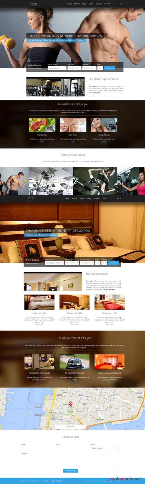 CreativeMarket - HOTFIT - Hotel and Fitness Template 21568