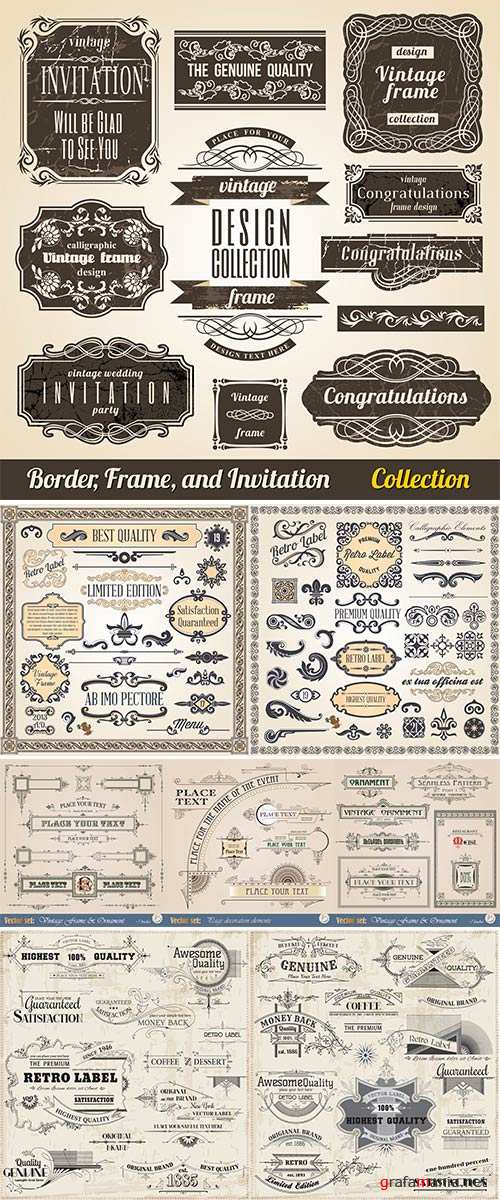 Stock: Vector Set Calligraphic Design Elements and Page Decoration