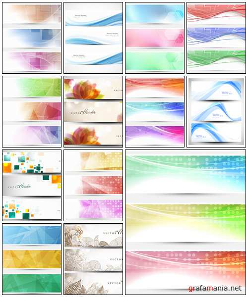 Vector abstract banners, part 35 - vector stock