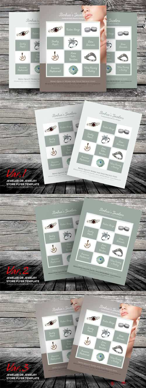 Flyers Templates - Jeweler or Jewelry