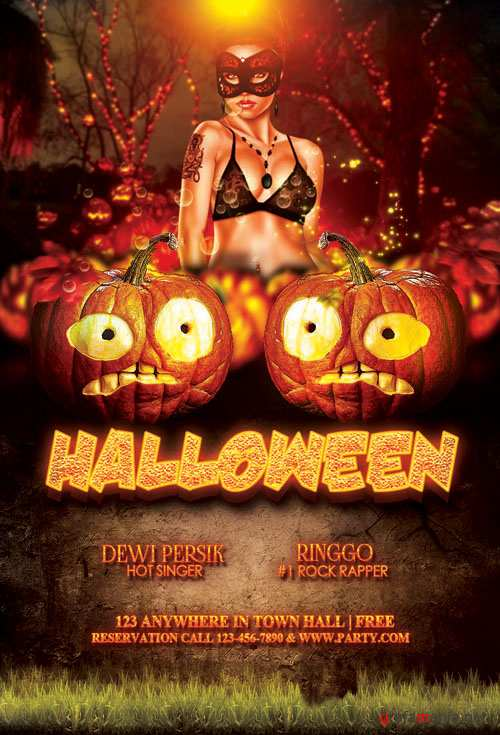Halloween Party Flyer/Poster PSD Template