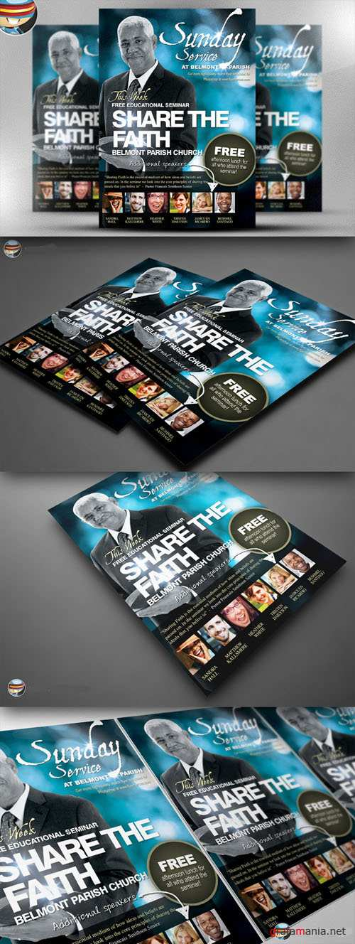 CreativeMarket - Share the Faith Church PSD Flyer