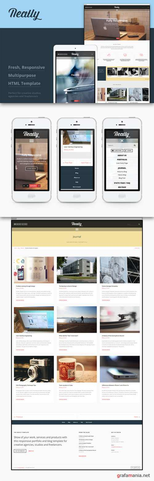 CreativeMarket - Neatly - Responsive HTML Template