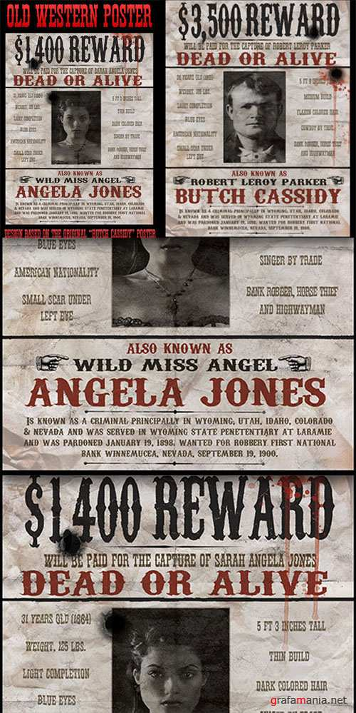 """CreativeMarket - Vintage """"Wanted"""" Poster"""