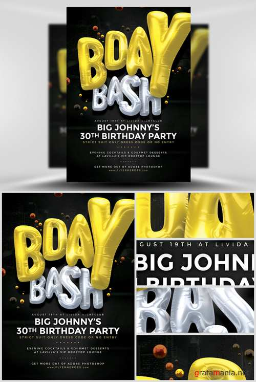 Flyer Template - Bday Bash 3
