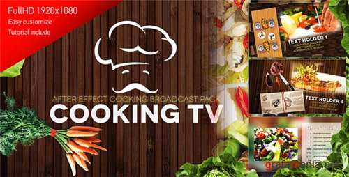 Cooking TV - After Effects Cook Broadcast Pack - After Effects Project (Videohive)