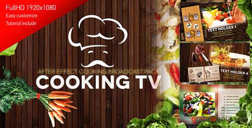 Cooking TV - After Effects Cook Broadcast Pack - Project for After Effects (Videohive)