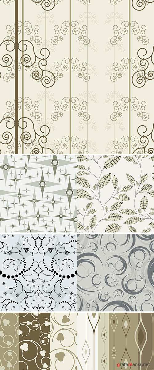 Stock: Vector seamless wallpapers