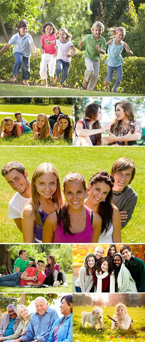 Stock Photo: Friends in the Park