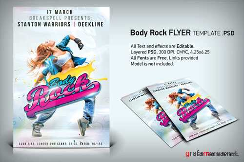 CreativeMarket - Body Rock Flyer PSD Template