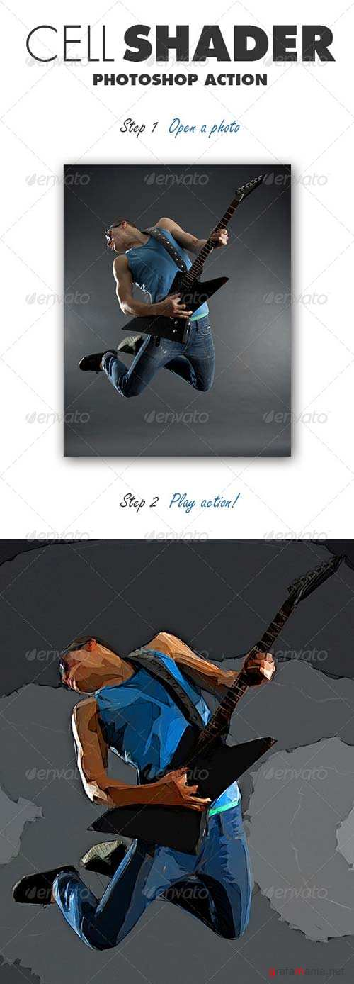 GraphicRiver Cell Shader Photoshop Action