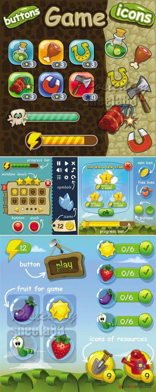 Game Templates Vector