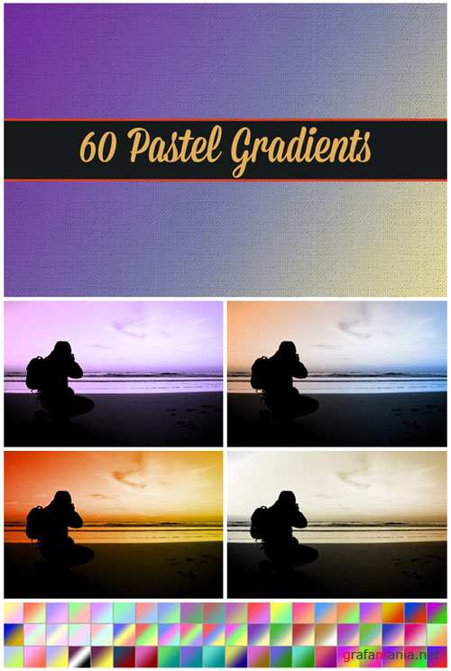 CreativeMarket - 60 Pastel Gradients 21328