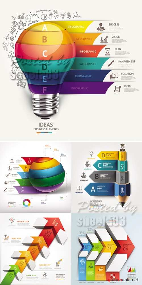 Creative Infographic Templates Vector