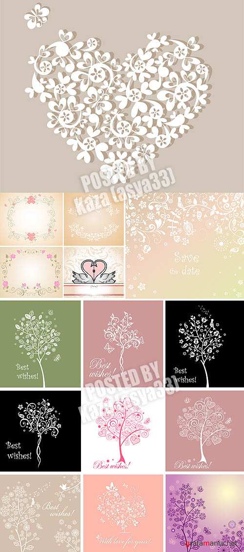 Floral cards & trees