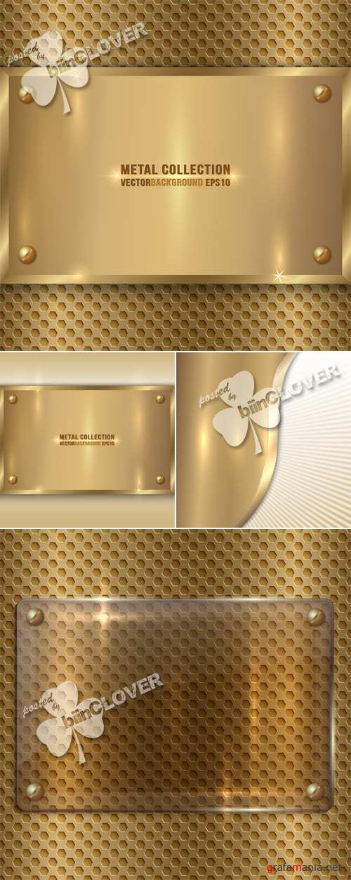 Abstract golden metal backgrounds 0588