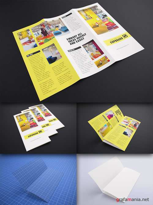 CreativeMarket - Tri-fold Flyer Mock-up 13179