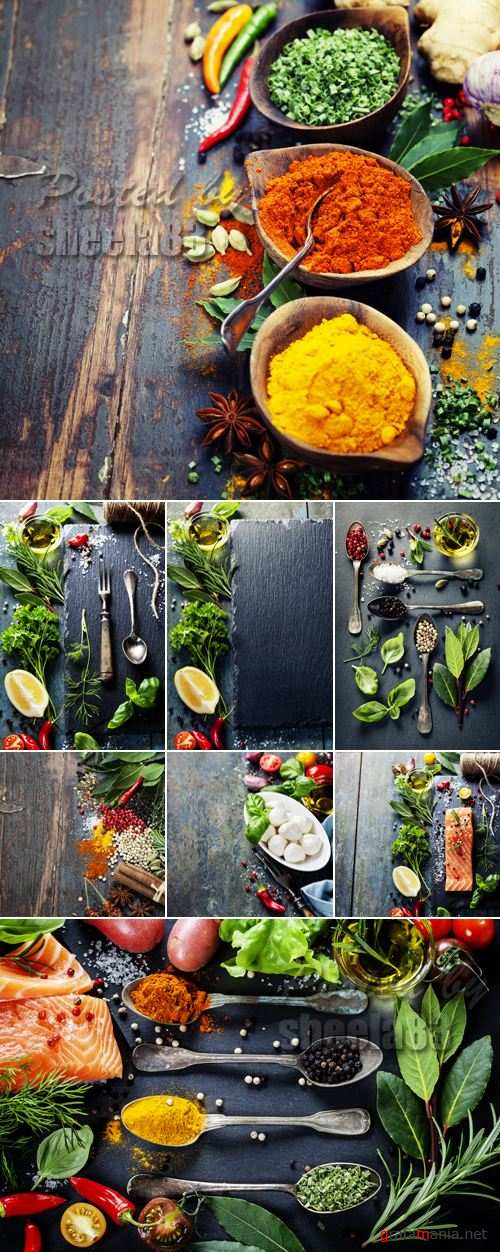 Stock Photo - Food on Wooden Background