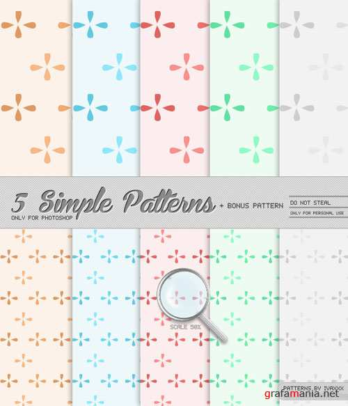 5 Simple Photoshop Patterns